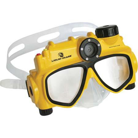 Liquid Image 5.0 MP Underwater Digital Camera Mask with Anti-fog Lenses, Editing Software for Mac & Windows, Depth Rating to 5M. image