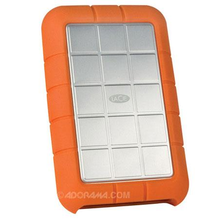 LaCie Rugged, 1TB Portable Pocket Hard Drive with FireWire 400 and 800, Hi-Speed USB 2.0 image