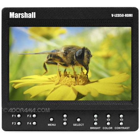 """Marshall 5"""" Small 800 x 480 Camera-Top / Portable Field Monitor with HDMI image"""