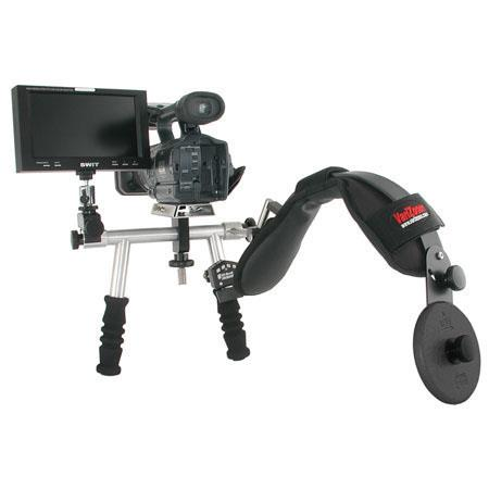 VariZoom DV Media Rig Pro Support, Shock-Absorbing Shoulder Support for DV Camcorders