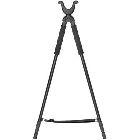 "Vanguard 3 Section, 40"" Extended Aluminum Gun Bipod with Non-slip ""U"" Style Yoke."