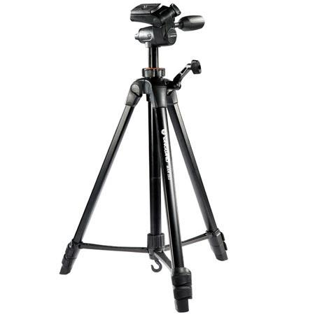 Vanguard MAK 263 Aluminum Alloy 3 Section Tripod with 3 Way Pan Head, Bubble level, Quick-Flip Leg Locks