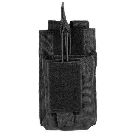 NcSTAR Vism Single Magazine Pouch, for a 5.56/223, or 7.62x39 Double Stack Magazine, Black.