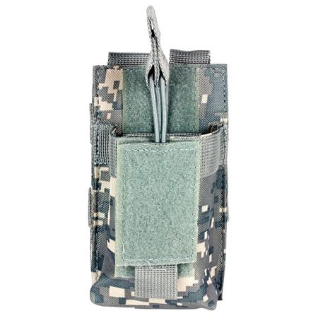 NcSTAR Vism Single Magazine Pouch, for a 5.56/223, or 7.62x39 Double Stack Magazine, Digital Camouflage