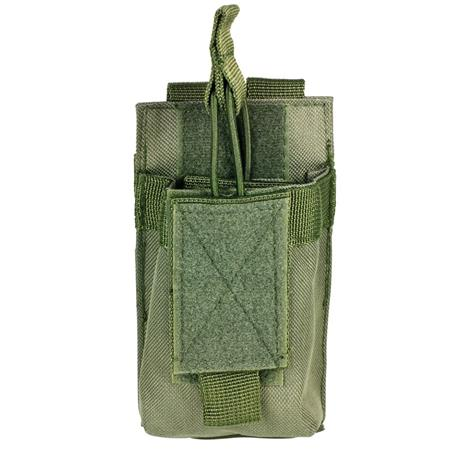 NcSTAR Vism Single Magazine Pouch, for a 5.56/223, or 7.62x39 Double Stack Magazine, Green.