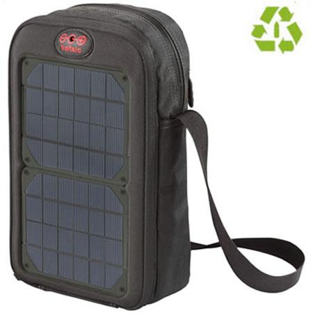 Voltaic Systems 1015 Switch Solar Daybag, Two 2.0 Watt Solar Panels, Universal USB Battery - Charcoal