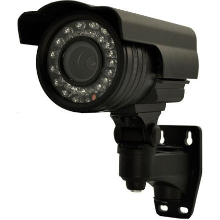 "Vonnic VCB240 1/3"" CCD Outdoor Night Vision Bullet Camera, 540 TV Lines Resolution, NTSC, Black"