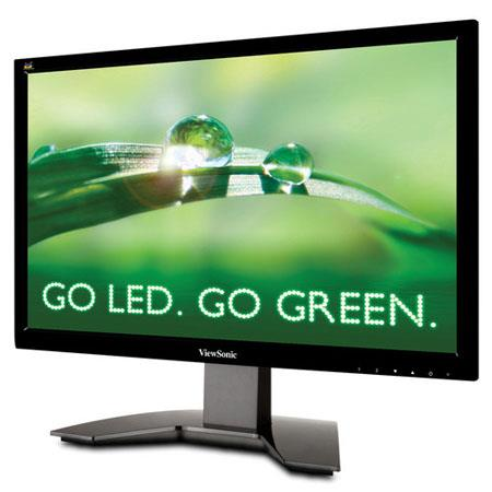"ViewSonic VA1912a-LED 19"" Widescreen LED Computer Display, 1366 x 768 Resolution, 16:9 Aspect Ratio, 5.0 ms Response Time, 15-Pin Mini D-Sub"
