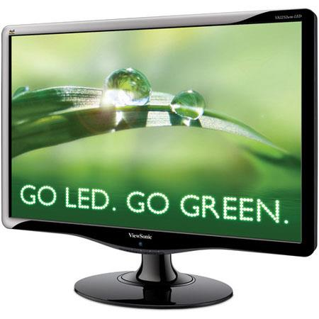 "ViewSonic VA2232wm-LED 22"" Widescreen LCD Computer Display, 1680 x 1050 Resolution, 16:10 Aspect Ratio, 5.0 ms Response Time, 15-Pin Mini D-Sub (VGA)"