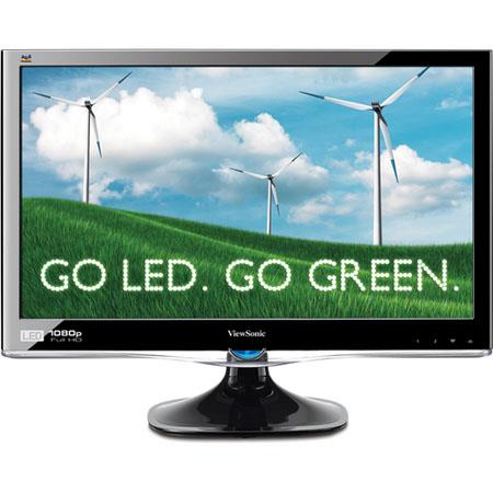 "ViewSonic VX2250wm-LED 22"" Widescreen LCD Monitor, 1920 x 1080 Resolution, 1000:1 Contrast Ratio, 5ms Response Time, Built-in 2W Stereo Speakers"