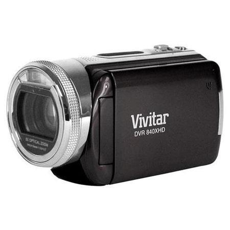 Vivitar DVR 840XHD 8.1 Megapixels High Definition Digital Video Camcorder with 5x Optical, 4x Digital Zoom and 3.0'' TFT LCD Display, Black