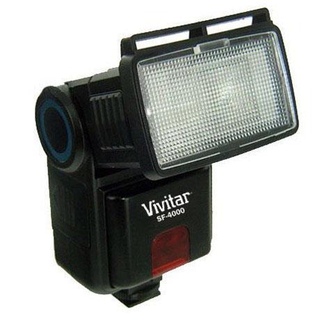 Vivitar SF4000 Shoe Mounted Bounce Zoom Slave Flash for Digital SLR Cameras image
