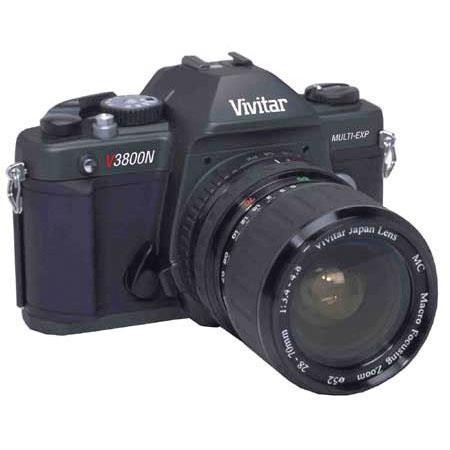 Vivitar V3800N SLR Multi Exposure Camera w/28-70 3.4-4.8 macro zoom lens image
