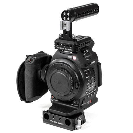 Wooden Camera Fixed Kit for Canon C100, C300  C500 Cinema EOS Camera, Includes Fixed Base, Top Plate, Top Handle  1/4-20 Hot Shoe