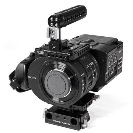 Wooden Camera Quick Kit for Sony NEX-FS700 Camera, Includes Quick Base, Top Plate, NATO Handle Kit and 1/4-20 Hot Shoe