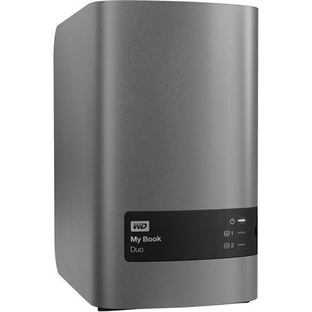 WD WDBLWE0120JCH-NESN 12TB My Book Duo External Storage Array, RAID 0/1/JBOD, USB 3.0, 290MB/s Data Transfer Rate
