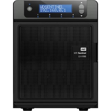 WD Sentinel DX4000 (WDBLGT0080KBK-NESN) Small Office Network Storage Server - Intel Atom D525 1.80 GHz - 8TB - RJ-45 Network