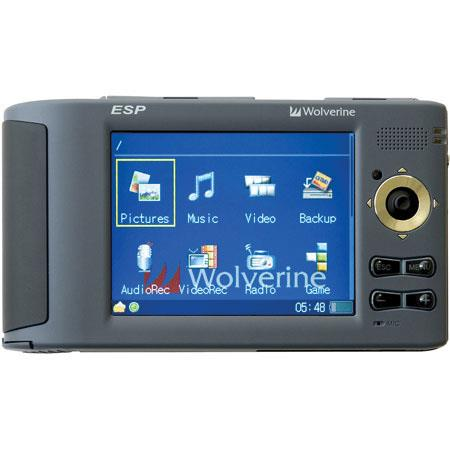 Wolverine ESP, 120 GB Multi-Media Player with built-in 7 in 1 Memory Card Reader image