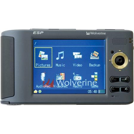 Wolverine ESP - 80 GB Multi-Media Player with built-in 7 in 1 Memory Cards Reader image