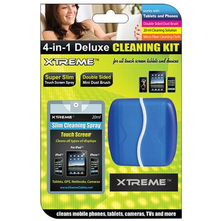 Xtreme Cables 4-in-1 Deluxe Cleaning Kit with 20ml Spray