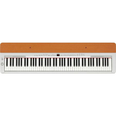 Yamaha P155 88-Key Digital Piano, 2x 12W Amplifier, Includes Sustain Pedal, Music Rest, AC Power Adaptor, Silver & Cherry