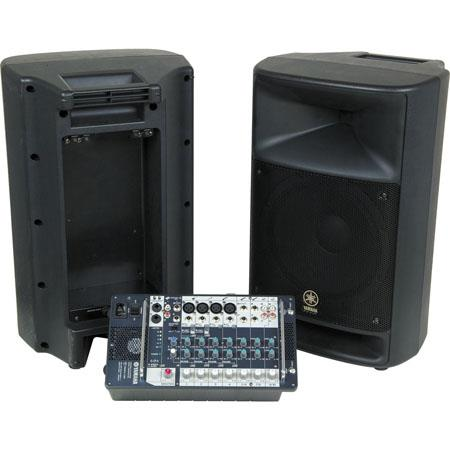 "Yamaha Stagepas 500-Watt Portable PA System, Dual 250-Watt Amplifiers, 10"" 2-Way Passive Speakers"