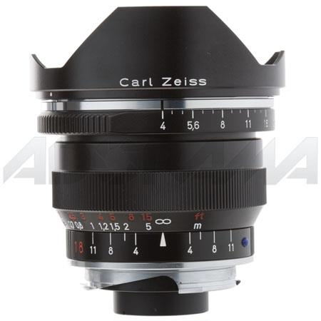 Zeiss Ikon 18mm f/4 T* ZM Distagon Lens, for Zeiss Ikon & Leica M Mount Rangefinder Cameras, Black