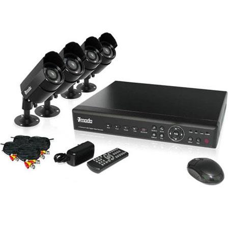 ZMODO 4CH CCTV Security 500GB DVR Day Night Weatherproof Camera System