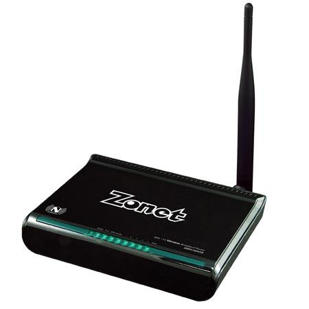 Zonet 802.11N Wireless 150Mbps Broadband Router with Fixed Antenna