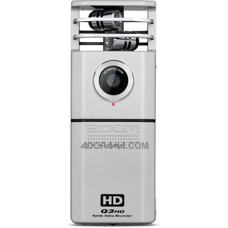 Zoom Q3HD Handy Video Recorder, 2.4 inch Widescreen Color LCD Screen, 4x Digital Zoom