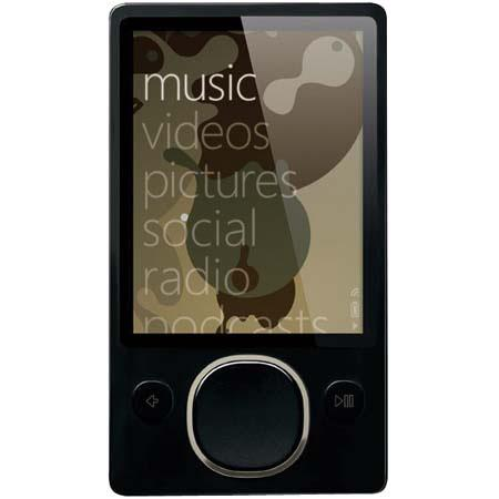 Microsoft Zune 80 GB Digital Media Player, Black image