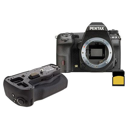 Pentax K-3 23.35MP DSLR Camera Body Bundle