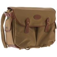 Photo Packington, Notebook & Camera Shoulder Bag, Khaki with Tan Leather Trim and Brass Fittings Product picture - 303