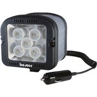 Bescor LED-150 12V On Camera Dimmable LED Video Light with Cigarette Plug Connection, 150 Watt Output, 5800K