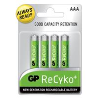 4-pack GP Recyko Ni-MH Pre-Charged Rechargable Batteries: AAA $5.99
