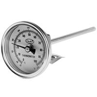 "Adorama Analog, Small Dial Faced Stem Thermometer 1 3/4"" dial with 6"" stem image"