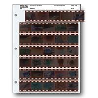 Print File Archival 35mm Size Negative Pages Holds Seven Strips of Five Frames, Pack of 25 image