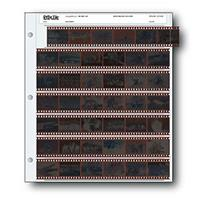 Print File Archival 35mm Size Negative Pages Holds Seven Strips of Six Frames, Pack of 25 image