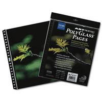 Itoya Art Profolio 17x22 and quot Crystal Clear PolyGlass Pages 10 Pages Per Pack