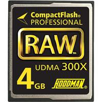 Hoodman RAW 4 GB, 300x High Speed UDMA Compact Flash Memory Card, Supports up to 45MB per-second Transfers image