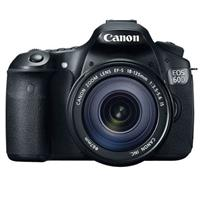 Canon EOS 60D Digital SLR Camera Body Kit, Black with EF 18-135mm f/3.5-5.6 IS Lens - Refurbished