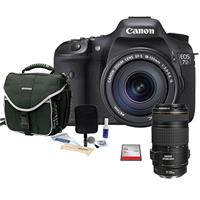 Canon EOS-7D Digital SLR Camera with Canon EF-S 18-135mm f/3.5-5.6 IS Auto Focus Lens & Canon EF 70-300mm f/4-5.6 IS USM Autofocus Lens - USA