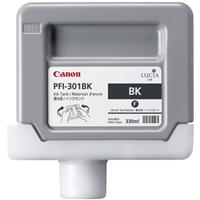 PFI-301BK Black Ink Tank for the imagePROGRAF iPF8000 and iPF9000 Inkjet Printers, 330 ml. Product image - 467
