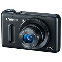 """Canon PowerShot S100 12.1 Megapixel Digital Camera with 5x Optical Zoom, 24mm Wide Angle Lens, 3"""" LCD Color Display - Black"""