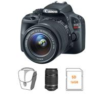 Canon EOS Rebel SL1 18MP dSLR w/ 18-55mm IS STM Lens + 55-250mm Telephoto Zoom Lens + Pro-100 Printer + 50 Pack of Paper