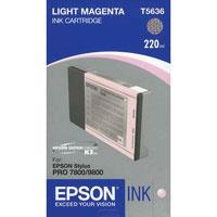 Light Magenta UltraChrome K3 Ink Cartridge for the Stylus Pro 7800 and 9800 Inkjet Printers, 220ml Product image - 725