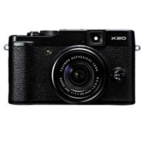 Fujifilm X20 Digital Camera, 12 Megapixels, 28-112mm F2-2.8 Lens - Black