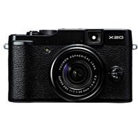 Fujifilm X20 Digital Camera, 12 Megapixels, 28-112mm F2-2.8 Lens - Black