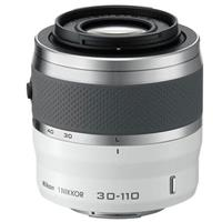 Nikon 1 Nikkor 30-110mm f/3.8-5.6 VR Lens for Mirrorless Camera System - White - Refurbished by Nikon U.S.A.