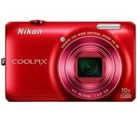 Nikon Coolpix S6300 16 Megapixel Digital Camera - Red - Refurbished by Nikon U.S.A.